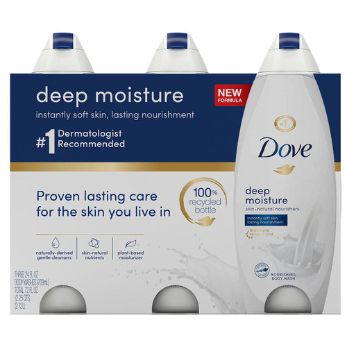 Dove Nourishing Body Wash, Deep Moisture (24 fl. oz., 3 pk.) - *In Store
