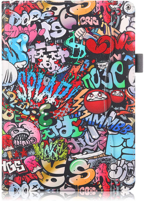 XBE Multifunctional Case for Lenovo Tab M10 TB-X605F TB-X505F / P10 X705F with Multiple Viewing Angles and Hand Holder , Graffiti