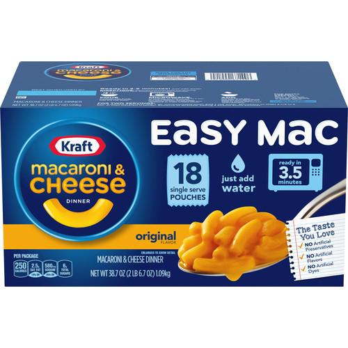 Kraft Easy Mac Microwavable Macaroni & Cheese (2.15 oz., 18 ct.) - *In Store