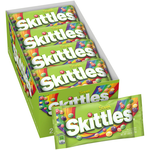 Skittles Sour Candy (1.8 oz., 24 ct.) - *In Store
