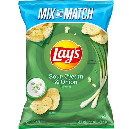 Lay's Sour Cream and Onion Potato Chips (15.5oz) - *Special Order