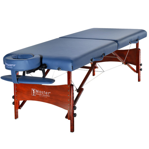 "Master Massage 30"" Newport Portable Massage Table Package - Royal Blue - *Special Order"