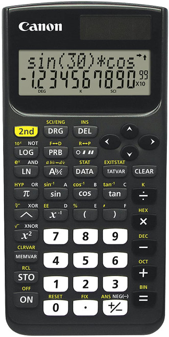 Canon F-730SX - Scientific calculator - 10 digits + 2 exponents - solar panel - black  - *Ships from Miami*