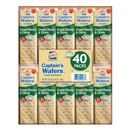 Lance Captain's Wafers, Cream Cheese and Chives (40 pk.) - *Special Order