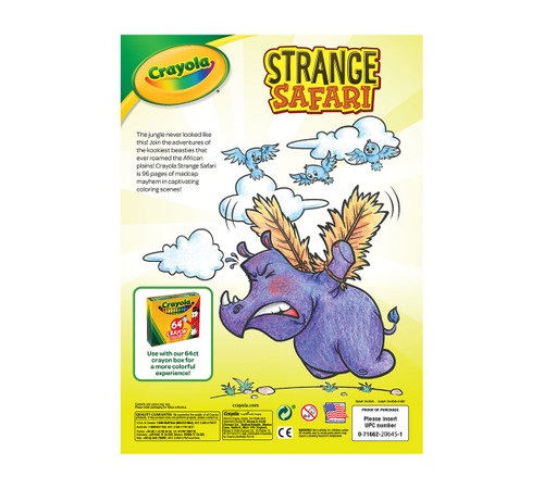 Crayola Strange Safari Coloring and Sticker Book, 96 pages  - *Ships from Miami*