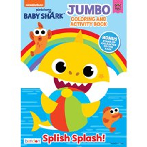 Bendon Publishing Baby Shark Jumbo Coloring Book  - *Ships from Miami*