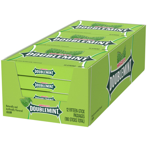 Wrigley's Doublemint Chewing Gum (15 ct., 12 pk.) - *Special Order