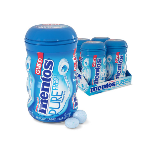 Mentos Pure Fresh Sugar-Free Chewing Gum Fresh Mint (50ct., 4pk.) - *Special Order