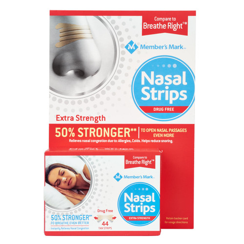 Member's Mark Extra Strength Nasal Strips, Tan (44 ct.) - *Special Order
