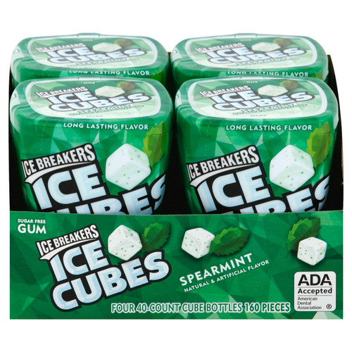 Ice Breakers Ice Cubes Sugar Free Gum, Spearmint (40 ct., 4 pks.) - *Special Order