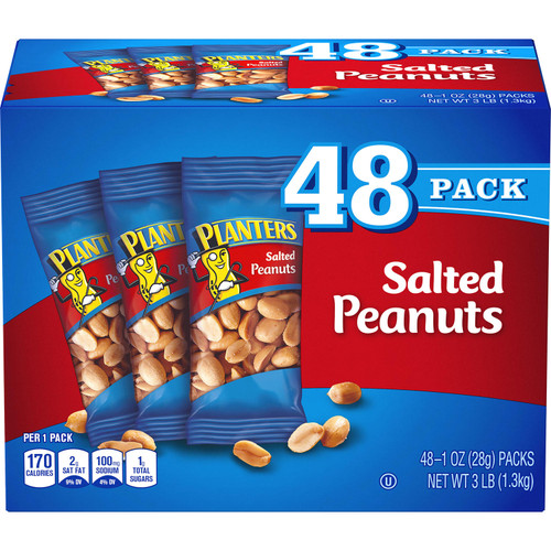 Planters Salted Peanuts (1oz / 48pk) - *Special Order