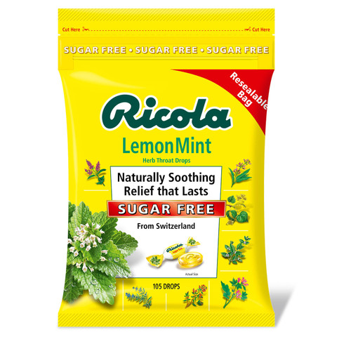 Ricola Sugar-Free Lemon Mint Herb Throat Drops (105 ct.) - *Special Order
