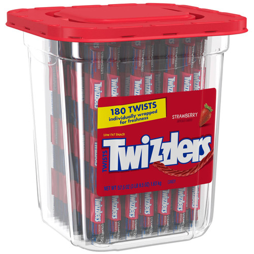 Twizzlers Twists Strawberry Flavored Candy (57.5 oz., 180 ct.) - *Special Order