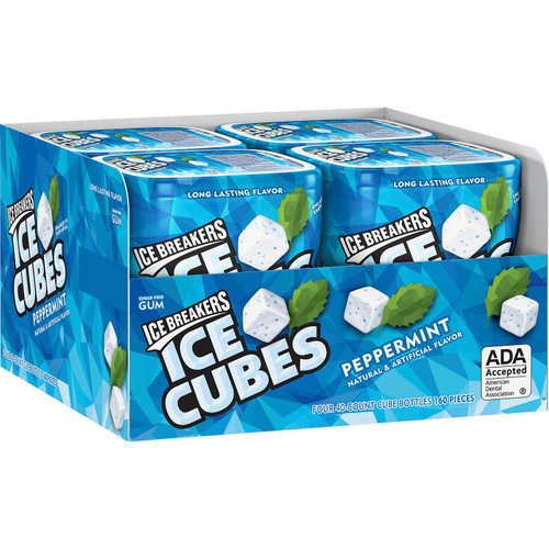 Ice Breakers Ice Cubes Sugar Free Gum, Peppermint (40 ct., 4 pks.) - *Special Order