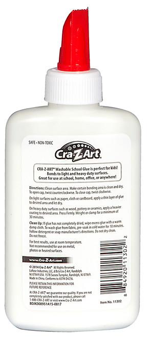 Cra-Z-Art Washable School Glue , 4 Oz White  - *Ships from Miami*