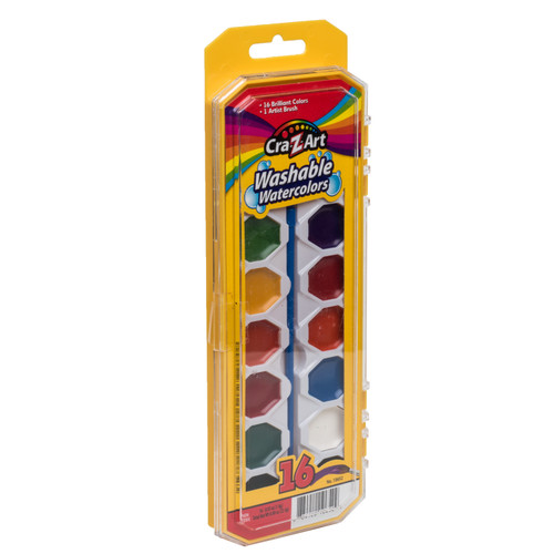 Craz-Z-Art 16-Color Washable Watercolors with Brush  - *Ships from Miami*