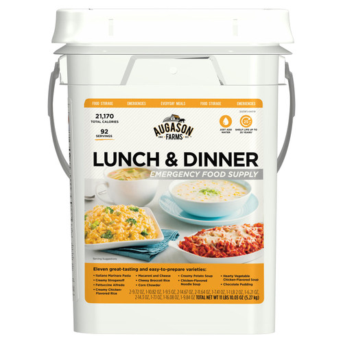 Augason Farms Lunch and Dinner Variety Emergency Food Supply 4-Gallon Pail - *Special Order