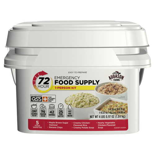 Augason Farms Emergency Food Supply (72-Hours 1-Person) QSS PLUS Certified - *Special Order