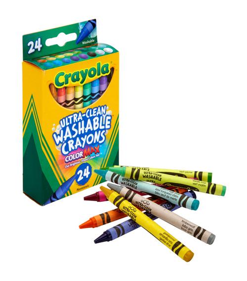 Crayola Washable Crayon Set, 24-Color Set  - *Ships from Miami*