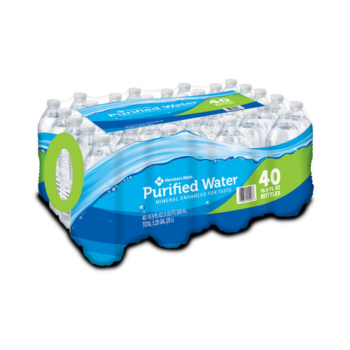 Member's Mark Purified Water (16.9oz / 40pk) - *Special Order