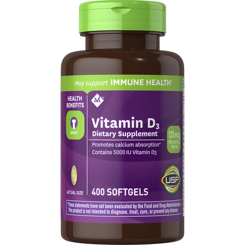 Member's Mark Vitamin D-3 5000 IU Dietary Supplement (400 ct.) - *Special Order