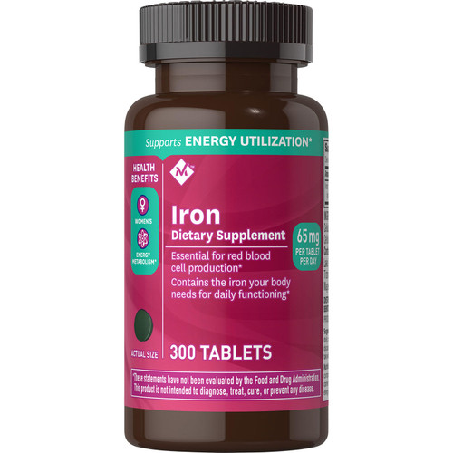 Member's Mark 65 mg Iron Dietary Supplement (300 ct.) - *Special Order