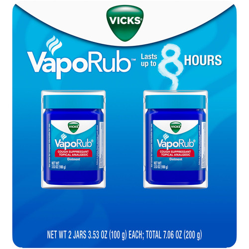 Vicks VapoRub Cough Suppressant Topical Analgesic Ointment Twin Pack (7.06 oz.) - *Special Order