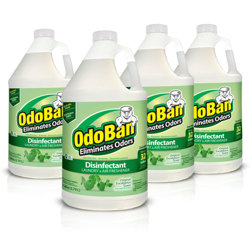 OdoBan Odor Eliminator and Disinfectant Concentrate, Eucalyptus Scent 4 Pack - *Special Order