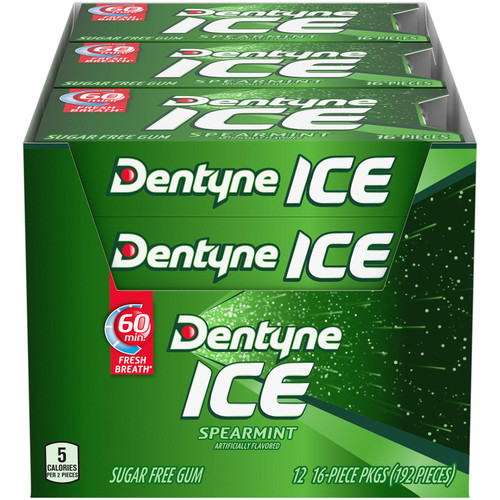 Dentyne Ice Spearmint Sugar Free Gum (16 pieces, 12 pk.) - *Special Order