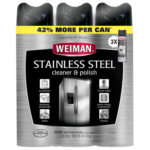 Weiman Stainless Steel Cleaner & Polish (17oz.,3pk.) - *Special Order