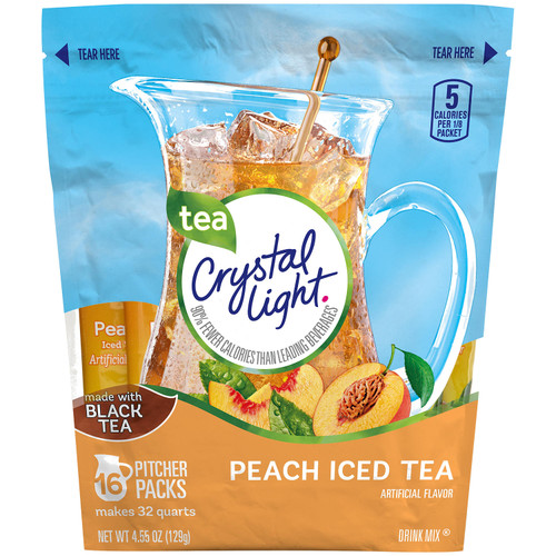 Crystal Light Peach Iced Tea Mix (16 ct.) - *Special Order