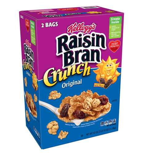 Kellogg's Original Raisin Bran Crunch Breakfast Cereal (42 oz.) - *Special Order