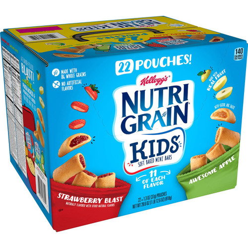 Kellogg's Nutri-Grain Kids Mini Breakfast Bars, Variety Pack (28.6 oz., 22 ct.) - *Special Order
