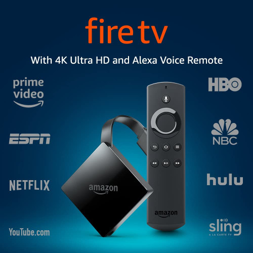 AMAZON Fire TV with 4K Ultra HD and Alexa Voice Remote (Pendant Design) | Streaming Media Player