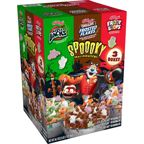 Kellogg's Halloween Edition Breakfast Cereal, Variety Pack (34.7 oz.) - *Special Order