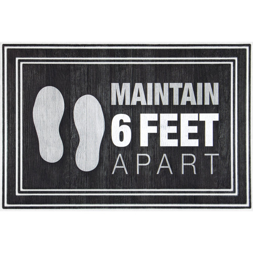 Maintain 6' Apart Entrance Mat, 2' x 3' - *Special Order