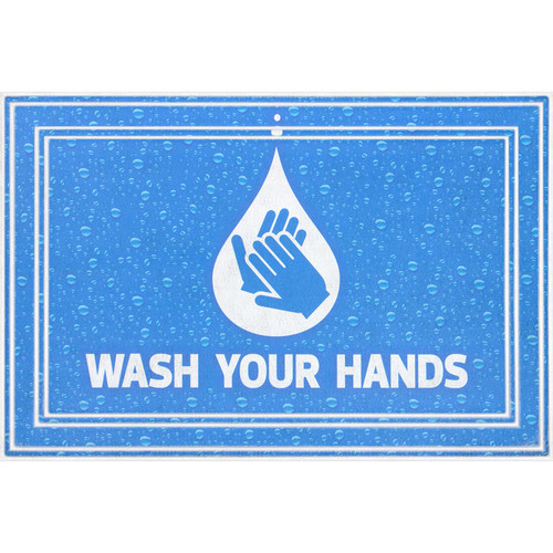 Wash Your Hands Entrance Mat, 2' x 3' - *Special Order