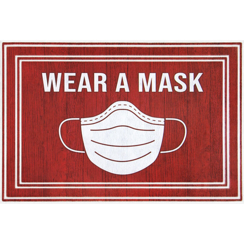 Wear A Mask Entrance Mat, 2' x 3' - *Special Order