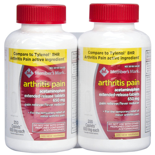 Member's Mark 650mg Arthritis Pain Tablets Twin Pack (400 ct.) - *Special Order
