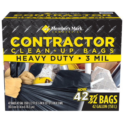 Member's Mark Commercial Contractor Clean-Up Trash Bags (42 gal., 42 ct.) - *Special Order