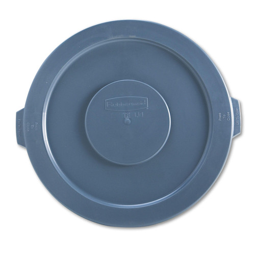 "Rubbermaid Commercial Round Flat Top Lid, for 32-Gallon Round Brute Containers, 22 1/4"" (Gray) - *Special Order"