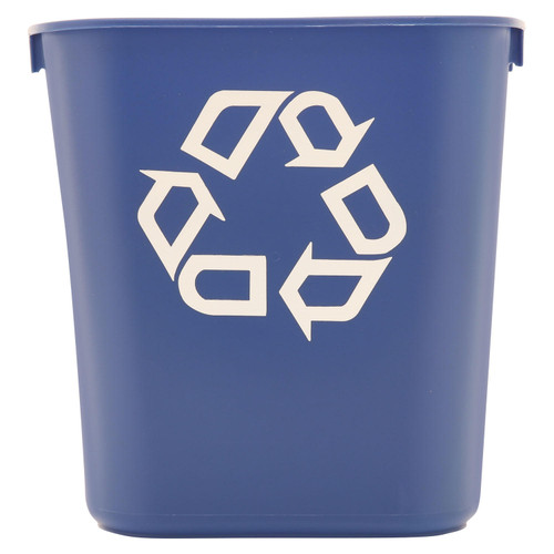 Rubbermaid Commercial Deskside Recycling Container - Blue - 13 5/8 qt. - *Special Order