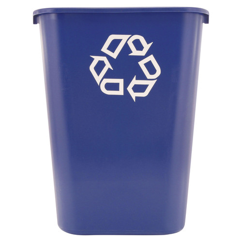 Rubbermaid Commercial Deskside Recycling Container - Blue - 41 1/4 qt. - *Special Order