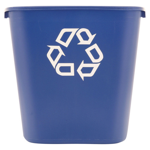 Rubbermaid Deskside Recycling Container - Blue - 28 1/8 qt. - *Special Order