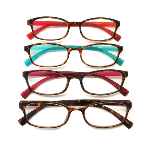 I.Image Women's TR-90 Memory Plastic 4-Pack Reading Glasses, Select Power - *Special Order