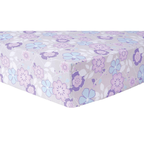 Trend Lab Fitted Crib Sheet, Grace Floral - *Special Order