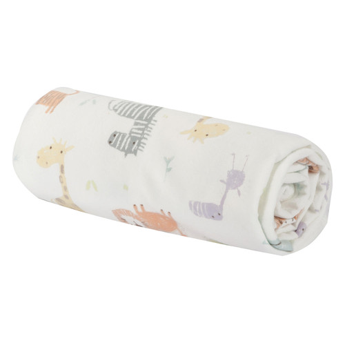 Trend Lab Flannel Swaddle Blanket, Crayon Jungle - *Special Order