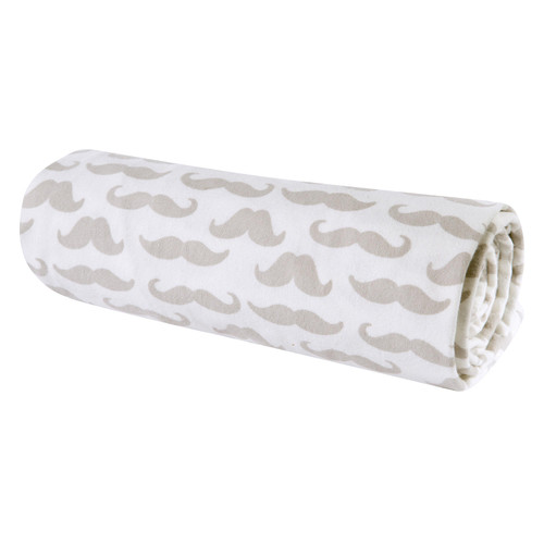 Trend Lab Flannel Swaddle Blanket, Mustaches - *Special Order