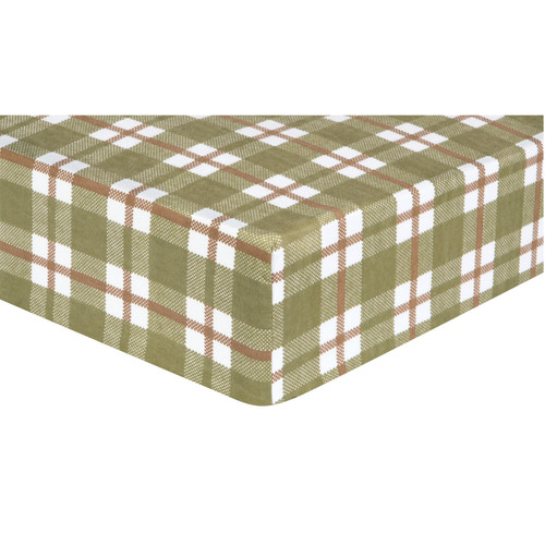 Trend Lab Fitted Crib Sheet, Deer Lodge Plaid Flannel - *Special Order