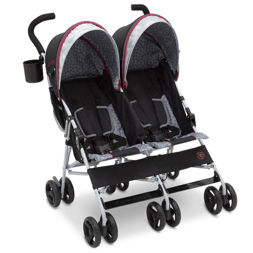 J is for Jeep Brand Scout Double Stroller, Lunar Burgundy - *Special Order